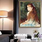 ganlanshu HD Retrato Arte réplica Lienzo impresión Cartel Pared decoración del hogar,Pintura sin Marco,60X90cm