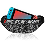 Travel Bag for Nintendo Switch Portable Shoulder Bag for Nintendo Switch Console, Joy Con, Phone, USB Cable and Accessories, Lightweight Backpack for Travel, Hiking, Cycling