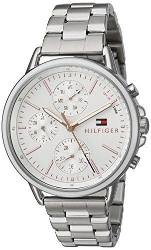 Tommy Hilfiger Women's Casual Sport Quartz Watch with Stainless-Steel Strap, Tone, 18 (Model: 1781787)
