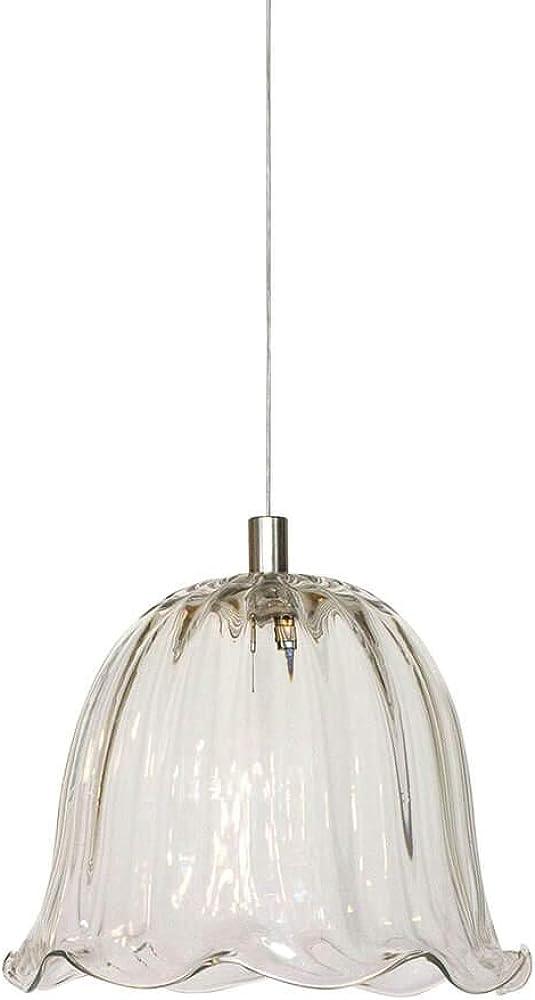 Karman ceraunavolta, lampada a sospensione a forma di h, in vetro trasparente SE1345S INT