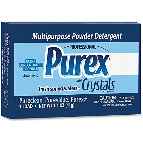 Purex - 1729435 Ultra Multipurpose Powder Detergent with Crystals Fragrance, 1.4oz Vend Pack (Pack of 156)