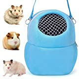 NALCY Portador de Hámster, Pet Carrier Bag, Bolsas de Transporte para Mascotas, Adecuado para Transportar Ratas Hámsters Ratones Ardillas Chinchillas Erizos y Otros Animales Similares (M, Azul)
