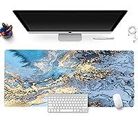 大理石 マウスパット,拡張 ゲーミングマウスパット,特殊テクスチャー表面 マウスパット,滑り止めゴム底 大きな マウスパッド,キーボードマウスマット M 30x60x0.3cm(11.8x23.6x0.1inch)