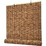 WZRIOP Estores de Bambú,Persiana Enrollable de Bambú,Cortina de Madera,Estor Enrollable para Ventana de Vestidor,para Ventana/Gazebo/Balcón/Patio,(100x100cm/39x39in)