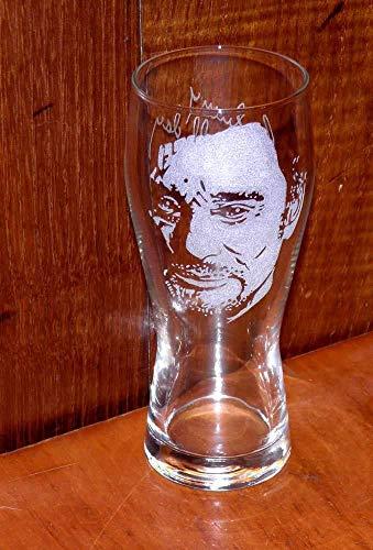 Verre à Bière gravé à la main Johnny Hallyday n°3