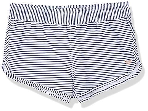 Roxy Girls' Surfing Free Boardshort, Medieval Blue Cosy Stripes Swim 20, 2XL