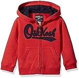 OshKosh B'Gosh Boys' Kids Full Zip Logo Hoodie, red, 7