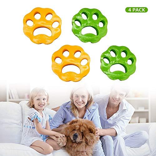 PECHTY Haustier Haarentferner, 4pcs Wiederverwendbarer Tierhaarentferner Waschmaschine,Haustier-Epilierer für Hundehaar, Katzenhaar und alle Haustiere (S)
