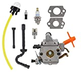 Carburetor for Stihl MS192 MS192T MS192TC Chainsaw for Zama C1Q-S258 Carb Fuel Hose