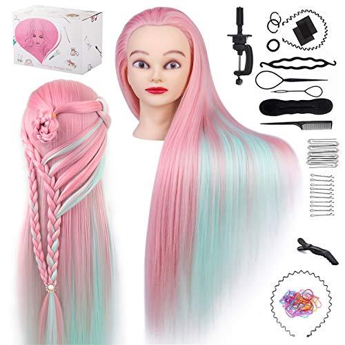 Testa di addestramento TwoWin Testa di parrucchiere Cosmetologia Manichino Manichino Bambole Hair Styling con supporto…