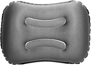 FaSoLa Inflatable Pillow Air Travel Pillow for Camping and Hiking Neck Rest Pillow Gray
