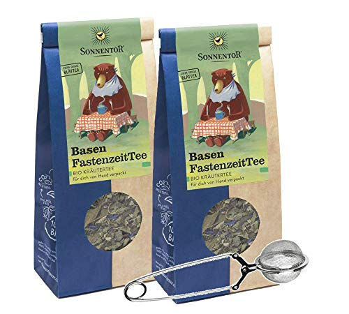 BIO Basen Fastenzeit Tee lose (je 50g) 2er Pack Kräutertee-Set mit Teezange AT-BIO-301