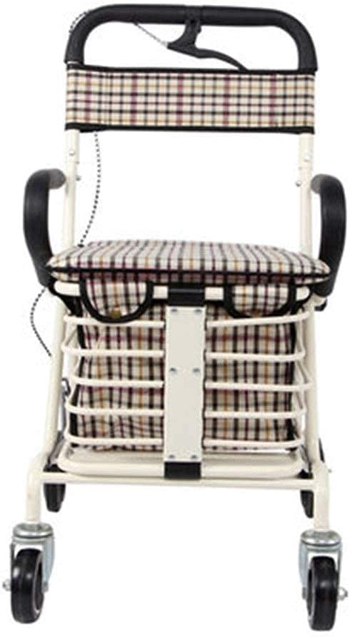 QIQIZHANG Max 48% OFF Walkers for OFFer Seniors Standard Elderly Trolley Walker Wh