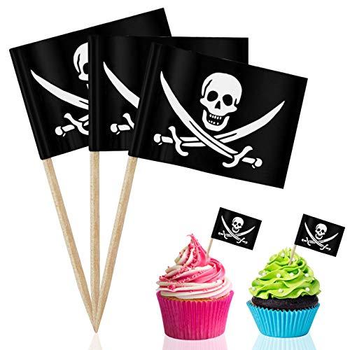 150 pcs para decorar fiestas temáticas de piratas.