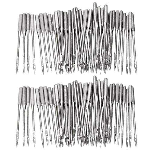 WJA 50 Count Sewing Machine Needles Universal Regular Point for Most Sewing Machines Singer, Janome, Varmax, Sizes 75/11, 80/12, 90/14, 100/16, 110/18