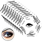 10 Pieces Eyeliner Stencil Eye Shadow Stencil Template Pads Quick Make-Up Stencils Eyeshadow Applicators Plate Makeup Tool Kit for Eye Shadow Eyeliner