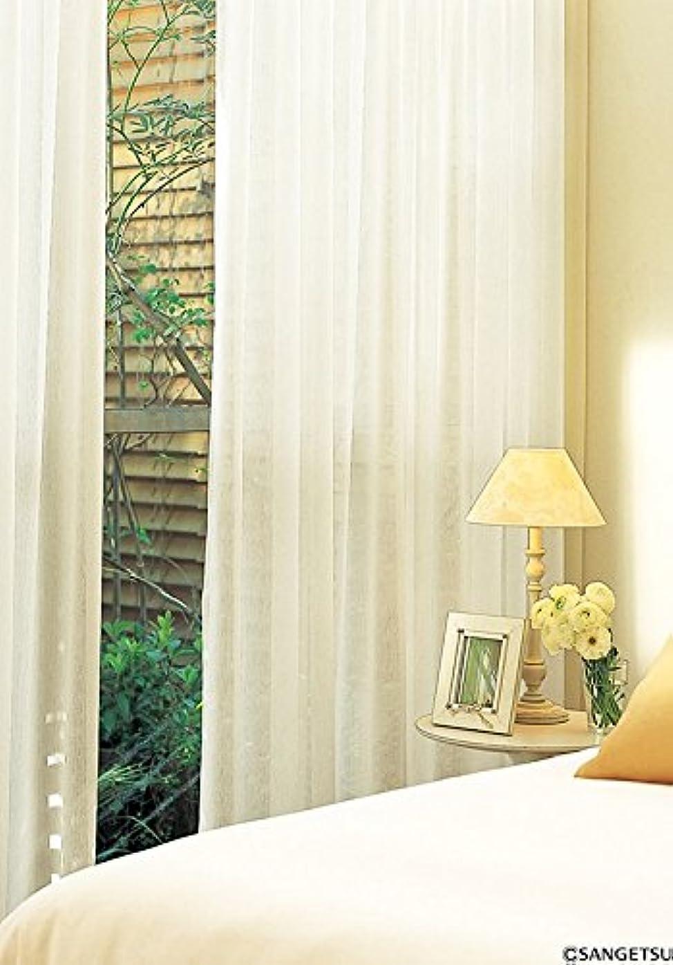 の量さわやか決してサンゲツ やわらかい風合いのシアーカーテン カーテン2.5倍ヒダ SC3780 幅:100cm ×丈:160cm (2枚組)オーダーカーテン