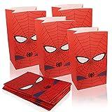 Yisscen 24pcs Bolsas de Papel,Bolsas de Papel Kraft Bolsas Chuches Cumpleaños Spiderman Bolsa para Regalo Reutilizable,para Guardar Dulces, Galletas,Chocolate,para Cumpleaños, Bodas,Navidad,Fiestas