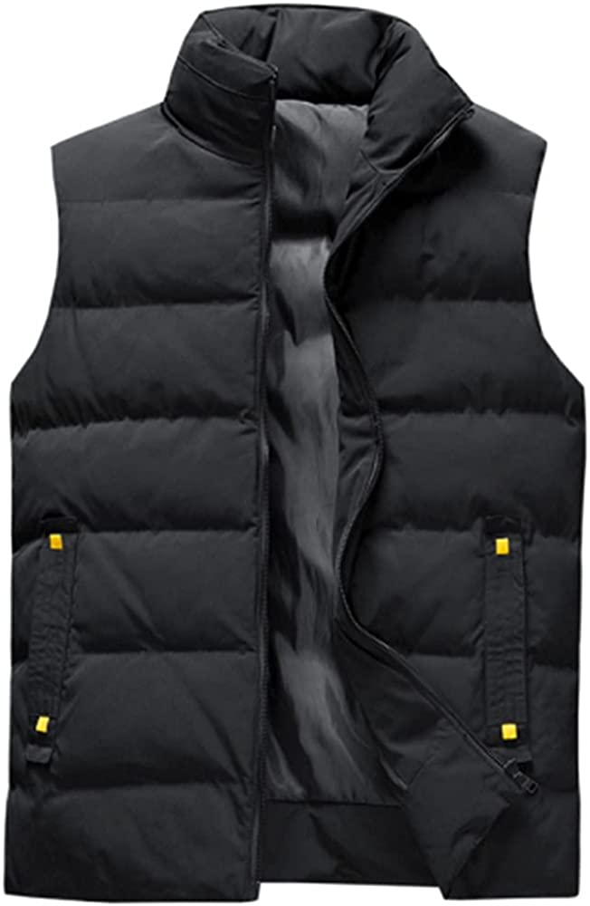Mens Casual Vest Winter Men Sleeveless Coats Male Vests Men Thicken Waistcoats