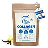 Collagen Pulver 1kg [ Vanille ] - Kollagen Hydrolysat Peptide - Eiweiß-Pulver - Wehle Sports - Made in Germany Kollagen Typ 1 2 3 Lift Drink
