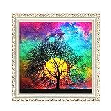 GonFan Kits de Pintura de Diamantes DIY 5D Diamante Pintura del árbol de la Sala Luz de la Luna Etiqueta engomada del Diamante de Punto de Cruz Decorativo Pintura Llena de Diamantes