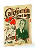 sheet music cover: California Here I Come
