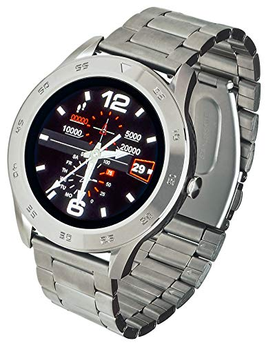 Garett Stahl GT22S Smartwatch, Silber