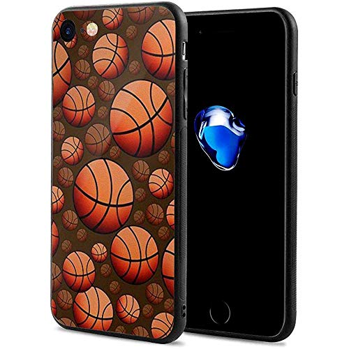 Gustave Tomlinson Funda Protectora Antideslizante a Prueba de Golpes ultradelgada en Modo Baloncesto Compatible con iPhone 7/8