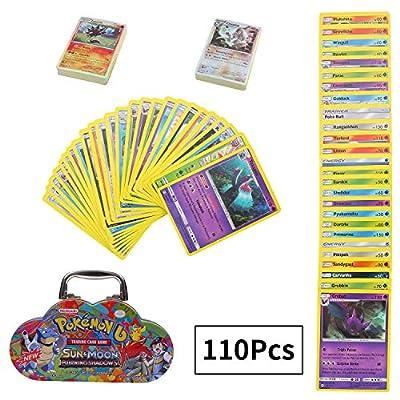 110 Piezas Pokemon Cartas, Cartas coleccionables, Juego de Cartas, Sun & Moon Series Burning Shadows por Colfeel