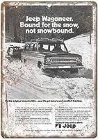 Jeep Wagoneer Bound for the Snow ティンサイン ポスター ン サイン プレート ブリキ看板 ホーム バーために