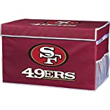 Franklin Sports NFL San Francisco 49ers Folding Storage Footlocker Bins - Official NFL Team Storage Organizers - Collapsible Containers - Large