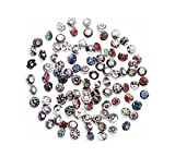 senior 50pcs rhinestone snaps chunk press buttons 12mm for snap jewelry making by senior