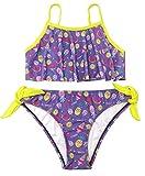 SHEKINI Bikini para Niñas Eatampado Traje de baño de Dos Piezas Lazo...
