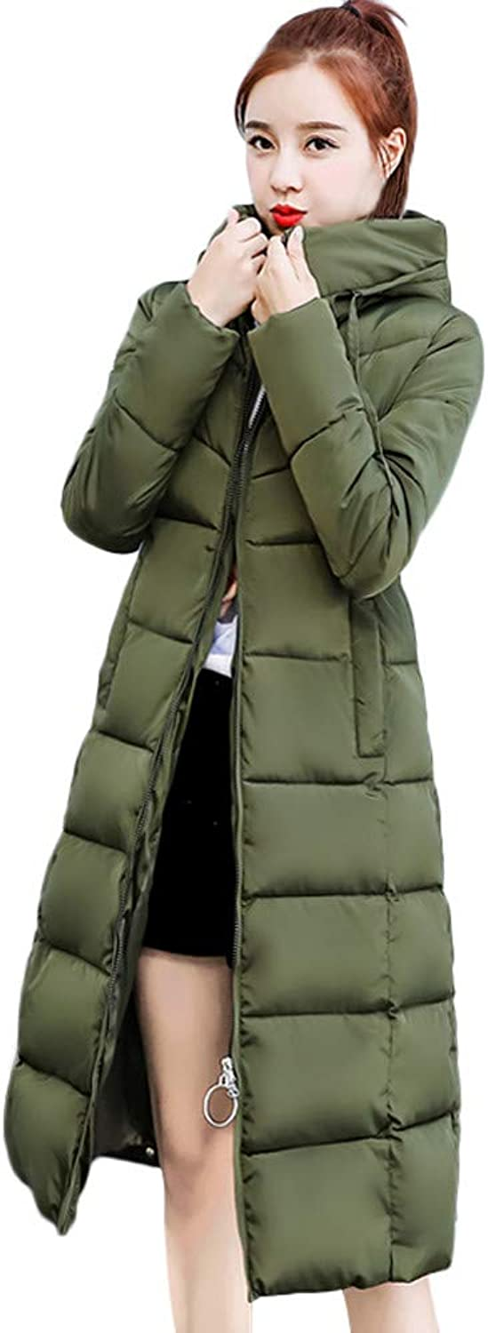 Winter Coats Women Ladies Long Thickened Padded Hooded Down Jacket Coat Sale