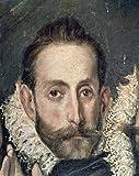Kunstdruck/Poster: EL Greco Self Portrait Detail from The