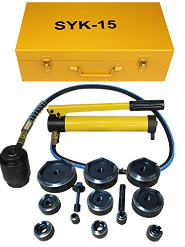 15ton Hydraulic Knockout Punch Kit Hand Pump 11 Dies Tool Hydraulic Opener