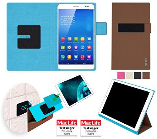 Hülle für Huawei MediaPad X1 7.0 Tasche Cover Hülle Bumper | in Braun | Testsieger