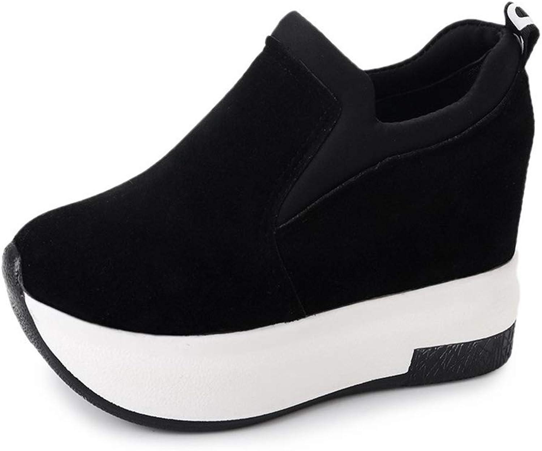 Women Height Increasing High Heel Slip On Platform Wedges Sneakers Fashion Female Loafers Casual Walking shoes
