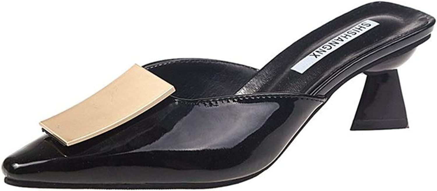 Women's Flats shoes Pointed Toe Backless Slipper Slip On Loafer shoes Mule