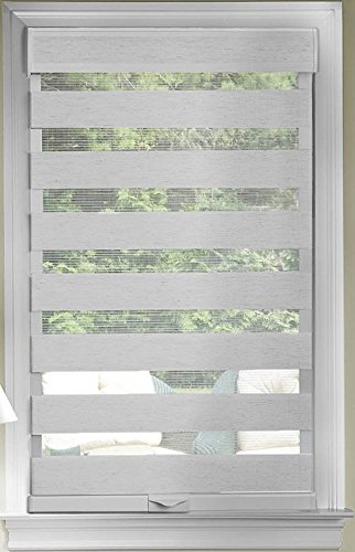 Achim Home Furnishing Window Blinds: Cordless Celestial Sheer Double-Layered Window Roller Shade (Gray, 35' x 72')