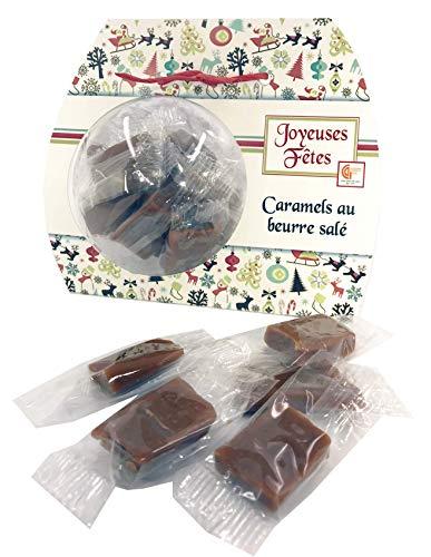 Ballotin boule 10cm caramel à la troussepinète d'antan - cadeau chocolat de noel