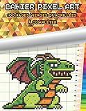 CAHIER de PIXEL ART - 100 pages vierges quadrillées à compléter: parfait pour apprendre l'art du pixel | idée cadeau qui fera plaisir aux enfants ado comme aux adultes