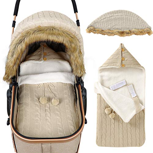 iFCOW Wickeldecke für Neugeborene, Baby-Kinderwagen-Abdeckung, Schlafsack-Set für Neugeborene, Kleinkinder, Autositz, Betthimmel, Buggy, Wickeltuch für Babys, Mädchen und Jungen