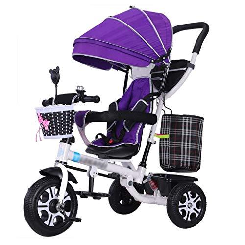 XHEYMX-baby cart Panier pour bébé Poussette, Wagon léger, Poussette Pliable Tricycle