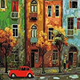 empty Pittura A Olio Digitale, Pittura Ad Olio su Tela per Adulti Fai-da-Te, Pittura Decorativa per La Casa Dell'Artista, con Pennello E Vernice Acrilica, Principiante-M32 (Senza Cornice, 40X50Cm)