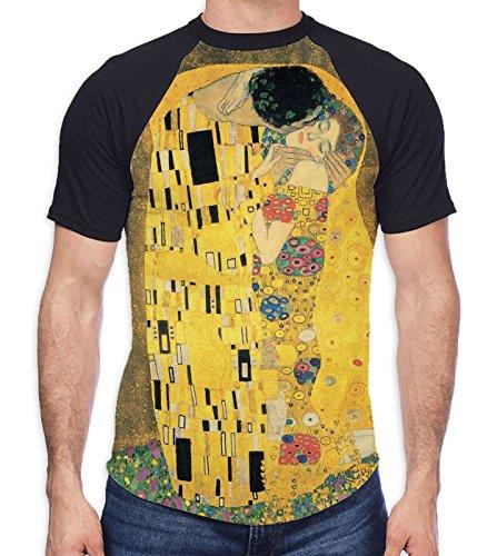 Gustav Klimt The Kiss (El Beso)- Camiseta tribal para hombre