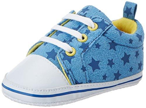 Playshoes Baby Canvas-Turnschuhe, trendiger Stoff-Sneaker mit rutschhemmenden Noppen, mit Sternen-Muster