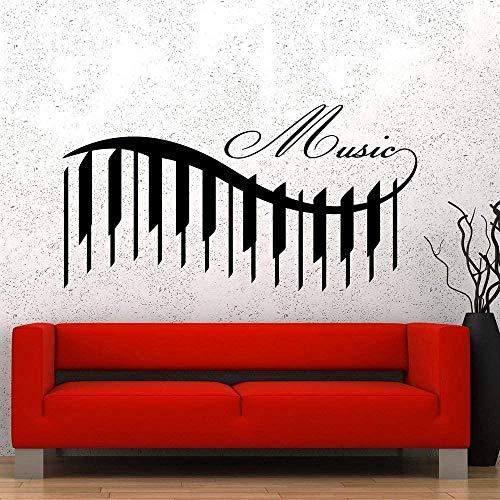 Muursticker Decal Muziek voor Klas Piano Mooie Liedjes Gegarandeerd Kwaliteit Muurstickers Als Kinderen Kamer Decoratie 30X57Cm