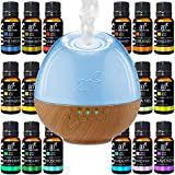 ArtNaturals Sound Machine Diffuser & Essential Oil Set - (300ml Tank & Top 16 Set) - 6 Calming Natural Sounds - Aromatherapy and White Noise for Relaxation and Sleeping - Baby, Kids, and Adults