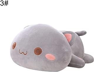 liuqingwind,Dolls,Kawaii Lying Cat Animal Doll Plush Stuffed Back Pillow Cushion Kids Toy Gift - 3# 50cm